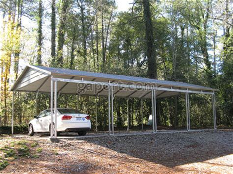 4 car carport side entry box eave style carports