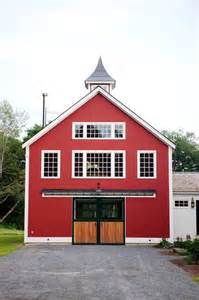 Large Red Vases The Eaton Post And Beam Carriage House Farmhouse