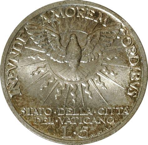 coin sede 5 lire sede vacante vatican city numista