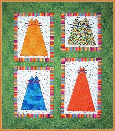 quilt pattern cat fat cats quilt patchwork pinterest