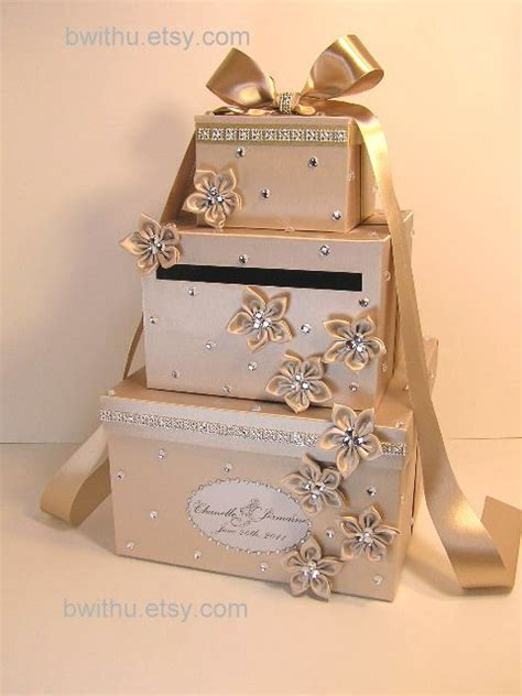 Wedding Gift Box For Cards - chagne wedding card box gift card box money box by bwithustudio