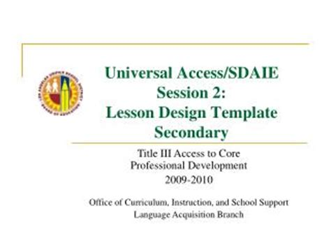 sdaie lesson plan template ppt sdaie powerpoint presentation id 483256
