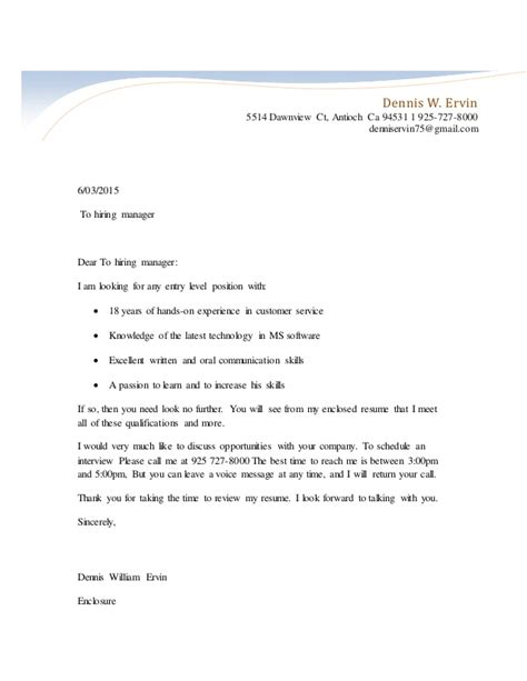 exle of unsolicited cover letter cover letter for unsolicited resume