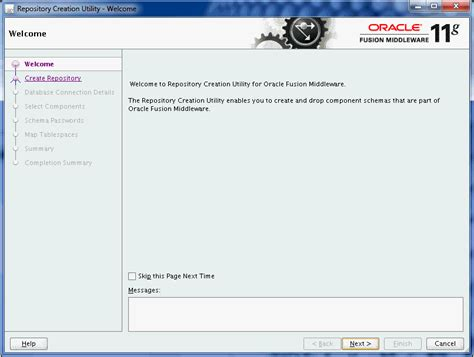 rcu create custom repository journaldev a repository creation utility screens