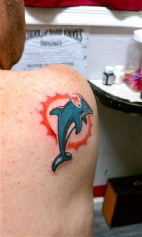 miami dolphins tattoo 17 best images about miami dolphins tattoos on
