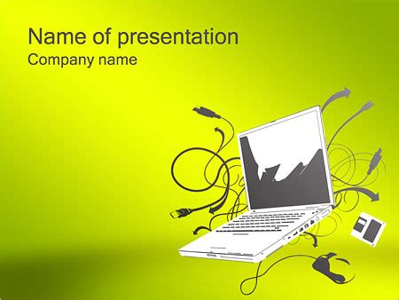 Notebook Computer Powerpoint Template Backgrounds Id Computer Powerpoint Templates