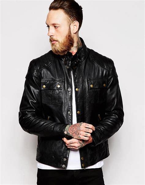 Jaket Parka 9 Pocket Black asos asos leather jacket with chest pocket in black