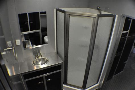enclosed trailer bathroom need a bathroom in your race trailer rpm trailer sales