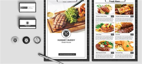 menu card template free psd restaurant business card psd free image