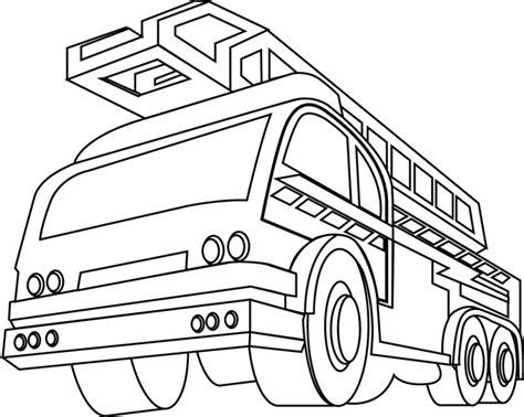 Coloriages Camion De Pompier L