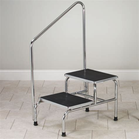 Two Step Stool With Handrail tables cabinets pediatric equipment physical therapy equipment room