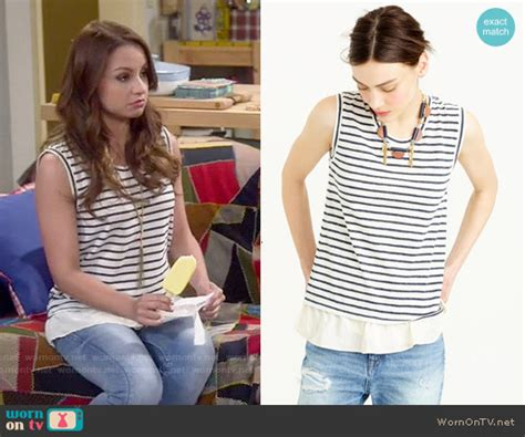 Aimee Stripes Top wornontv sofia s striped sleeveless top on and