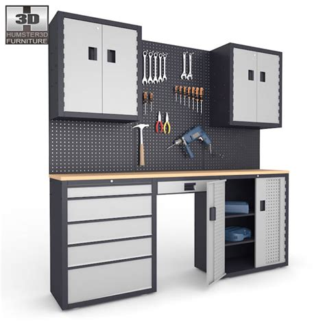Furniture Garage by Garage 03 Set Furniture And Tools 3d Model Ready