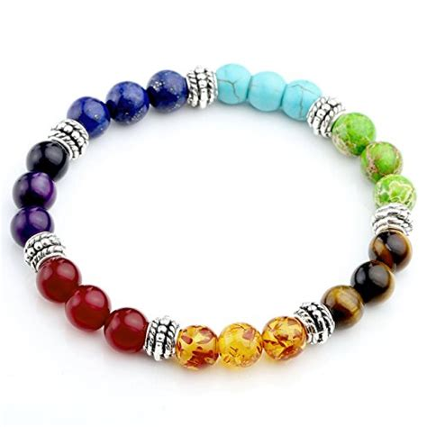 2 bead or not 2 bead jovivi jovivi 7 chakras gemstone bracelet reiki h