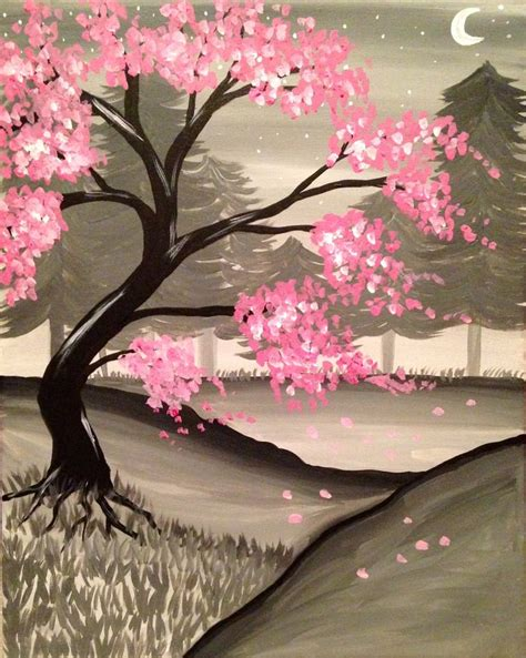 paint nite japanese cherry blossoms best 20 cherry blossom painting ideas on