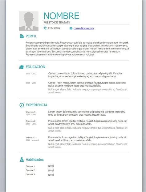 Modelo Curriculum Vitae Rellenar Modelo De Curriculum Vitae Para Rellenar E Imprimir Zooz1 Plantillas