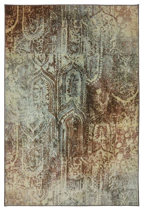 area rugs transitional transitional serenity 8 x11 rectangle brown area