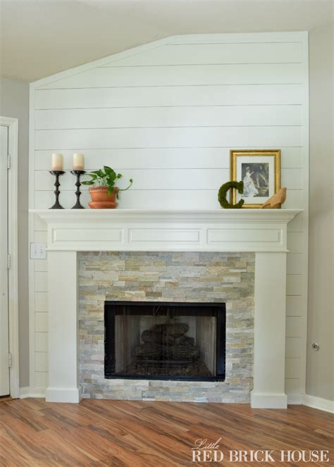 fireplace makeover stonework brick house