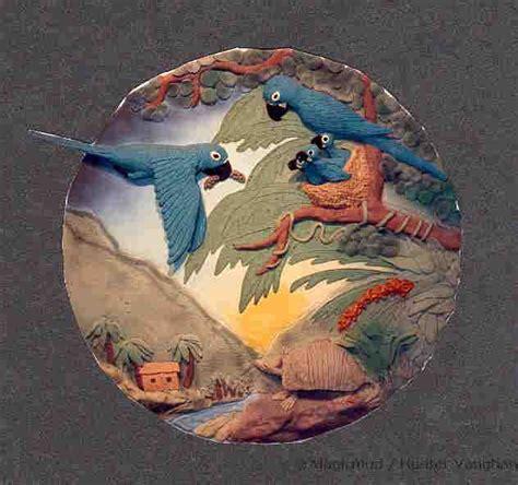 Handmade Wall Murals - ceramic bird wall murals custom ceramic bird tiles and