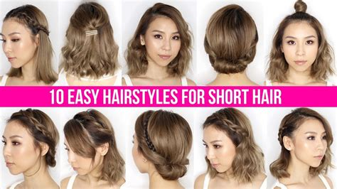 Ways To Style Short Hair For Women Over 50 | 10 easy ways to style short hair long bob tina yong