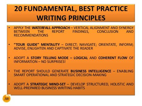 Report Writing Exercises by Technical Report Writing Best Practice Writing Principles