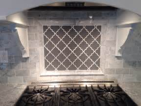 Moroccan Tiles Kitchen Backsplash Grey Moroccan Lattice Backsplash Accent Range Bianco Subway Tile Viscount White