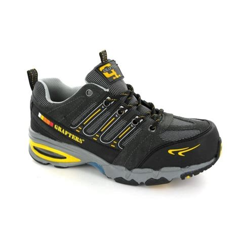 Kickers Boots Safety Grey Licin grafters nighthawk s1 sra metal free trainers grey