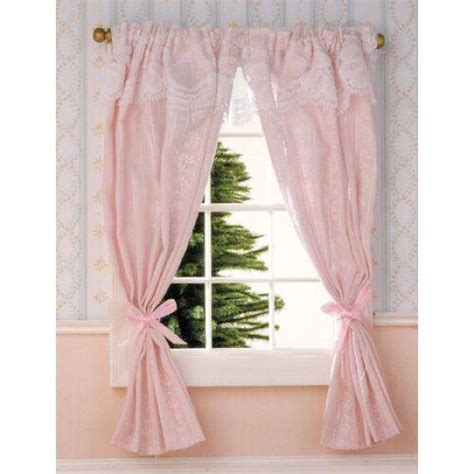 pale pink curtain panels pale pink curtains on rail 1 12 scale for dolls house