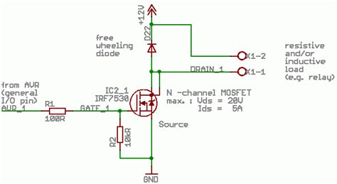 choosing mosfet gate resistor pull resistor for mosfets required avr freaks