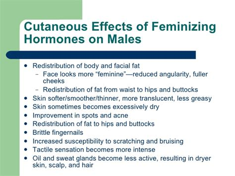 feminizing hormones for men the estrogen was feminizing him the estrogen was