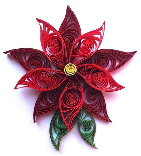 flower pattern for quilling quilled poinsettia flower craftsy