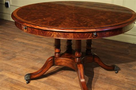Mahogany Dining Table Expandable Formal Mahogany Dining Table With Leaves High End Table Ebay