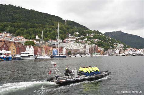 rib boat in bergen ribboat tour in den fjorden bergens norwegen