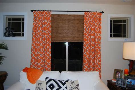 Orange Patterned Curtains Home Chic Raleigh Orange Curtains Patterned Curtains Geometric Curtains Modern Curtains