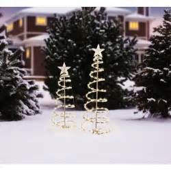 holiday time lighted spiral christmas tree sculptures