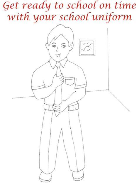 coloring pages school uniform school uniform coloring printable page for kids