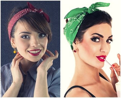 Simple Pin Up Hairstyles by And Simple Bandana Hairstyles For Hair