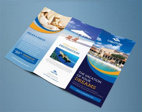 free travel brochure templates 25 free printable brochure templates in psd eps ai