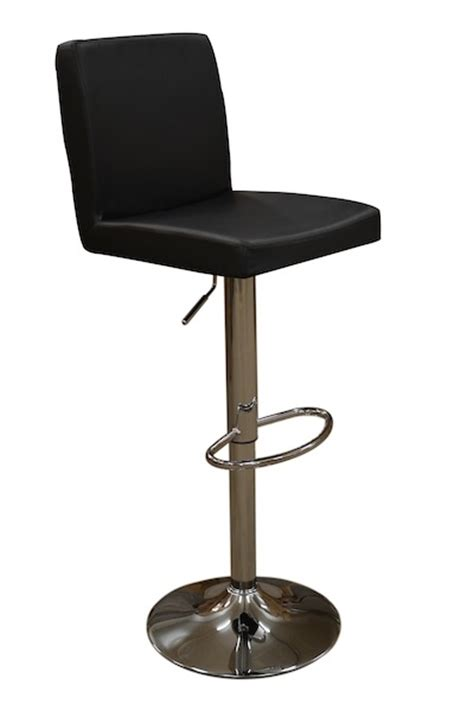 black leather breakfast bar stools review of black leather style squared topaz breakfast bar