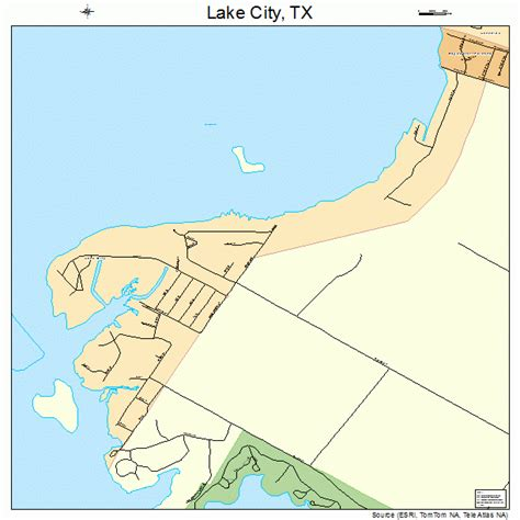 texas map with lakes lake city texas map 4840472