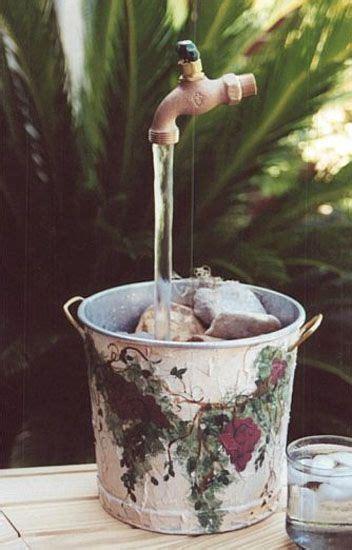 diy backyard ideas inspiring  simple water fountain