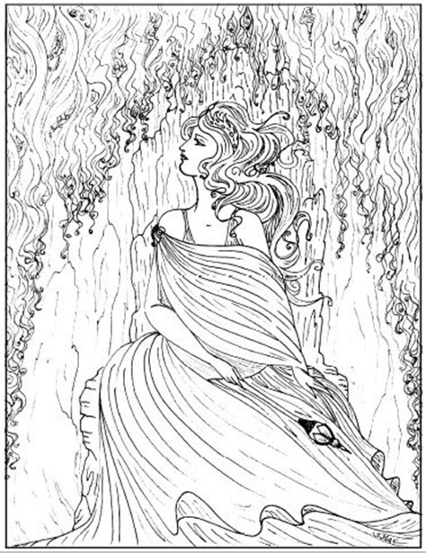 adult coloring pages beautiful girl coloring pages ii