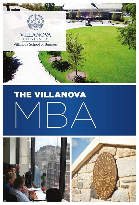 Tuition Cost For Villanova Mba by Villanova School Of Business Mba Brochure 2015 By