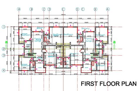 semi detached house floor plan semi first floor plan1 attached house plan rare plans for
