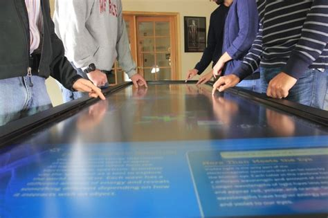 finally a 100 inch touchscreen desk for the office