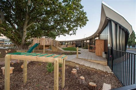 child care design guidelines vancouver chrysalis childcare centre developed around mature trees