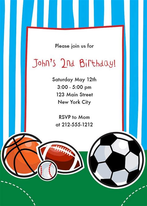 Sports Themed Birthday Party Invitations Dolanpedia Invitations Ideas Free Printable Sports Birthday Invitation Templates