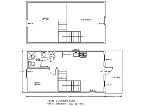 the mother in law cottage is 16 800 14 x 40 floor plans with loft 28 x 36 cabin plans http www woodtex com cabin floor plans asp