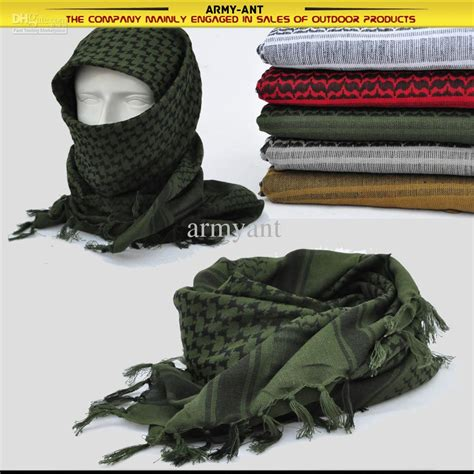 Miera Pashmina Army 1 green black outdoor lightweight shemagh tactical desert scarves keffiyeh scarf wrap