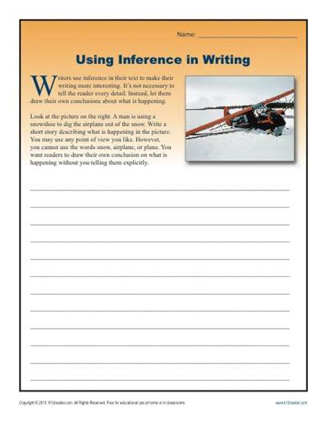 Inference Worksheets High School by Using Inference In Writing Worksheets For High School